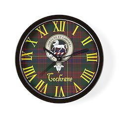 Cochrane Clan Crest / Tartan Wall Clock