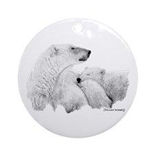 Polar Bears Ornament (Round)