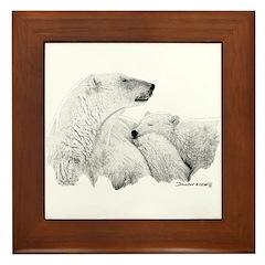 Polar Bears Framed Tile