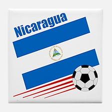 Nicaragua Soccer Team Tile Coaster