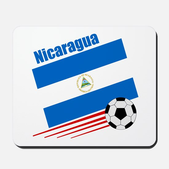 Nicaragua Soccer Team Mousepad
