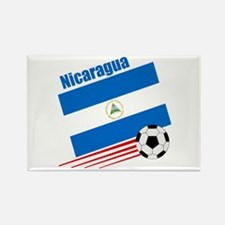 Nicaragua Soccer Team Rectangle Magnet