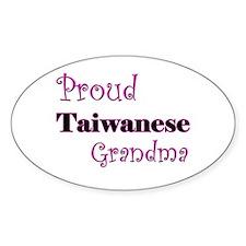 Proud Taiwanese Grandma Oval Decal