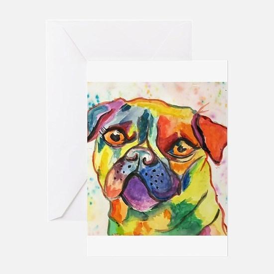 Pop Pug Pup Greeting Cards