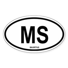 Mauritius Oval Decal