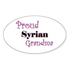 Proud Syrian Grandma Oval Decal