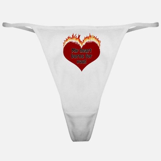 Burning Heart Valentine Classic Thong