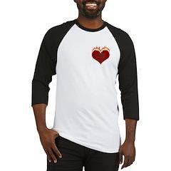 Burning Heart Valentine Baseball Jersey