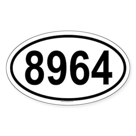 8964 Oval Sticker