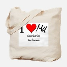 I Heart My Veterinarian Technician Tote Bag