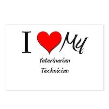 I Heart My Veterinarian Technician Postcards (Pack