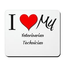 I Heart My Veterinarian Technician Mousepad