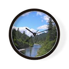 Scenic Eel River Wall Clock
