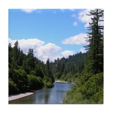 Scenic Eel River Tile Coaster