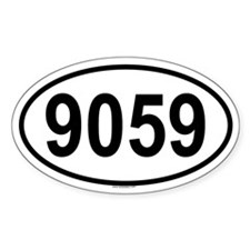 9059 Oval Decal