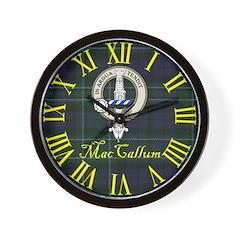 MacCallum Clan Crest / Tartan Wall Clock