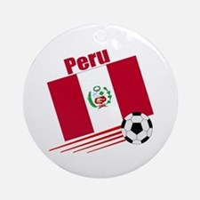 Peru Soccer Team Ornament (Round)