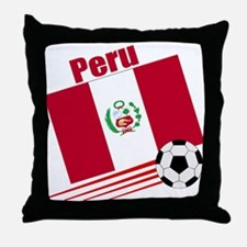 Peru Soccer Team Throw Pillow