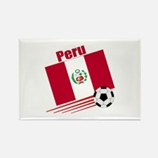 Peru Soccer Team Rectangle Magnet