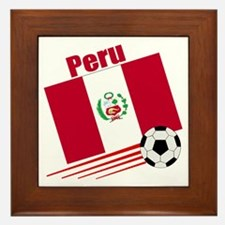 Peru Soccer Team Framed Tile