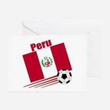 Peru Soccer Team Greeting Cards (Pk of 10)