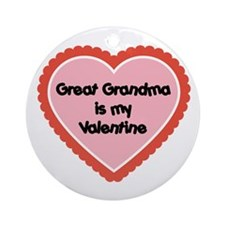 Great Grandma is My Valentine Ornament (Round)