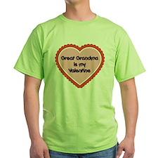 Great Grandma is My Valentine T-Shirt