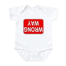 WRONG WAY Sign Infant Bodysuit