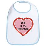 Lolo is My Valentine Bib