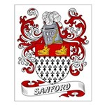 Sanford Coat of Arms Small Poster