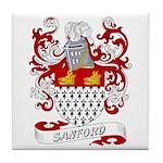 Sanford Coat of Arms Tile Coaster