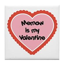 Memaw is My Valentine Tile Coaster