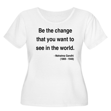 Gandhi 1 Women's Plus Size Scoop Neck T-Shirt