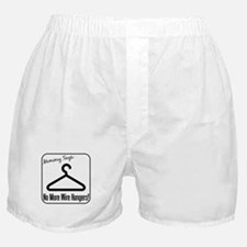 No More Wire Hangers! Boxer Shorts