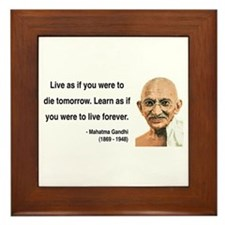 Gandhi 2 Framed Tile