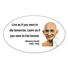 Gandhi 2 Oval Decal