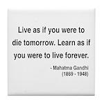 Gandhi 2 Tile Coaster