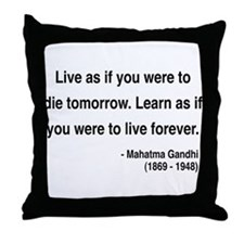 Gandhi 2 Throw Pillow