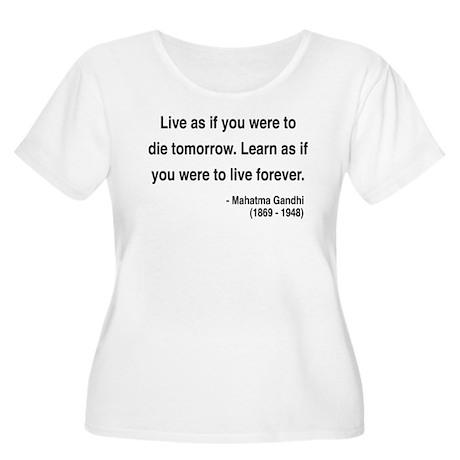 Gandhi 2 Women's Plus Size Scoop Neck T-Shirt