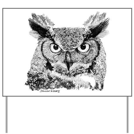 Horned Owl Yard Sign