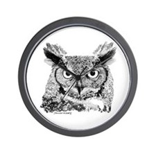 Horned Owl Wall Clock