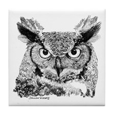 Horned Owl Tile Coaster