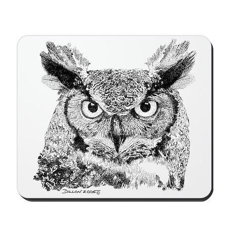 Horned Owl Mousepad