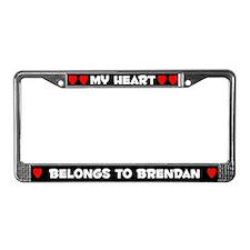 My Heart: Brendan (#001) License Plate Frame