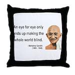 Gandhi 3 Throw Pillow