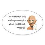 Gandhi 3 Oval Sticker