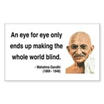 Gandhi 3 Rectangle Sticker