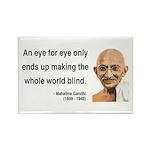 Gandhi 3 Rectangle Magnet (100 pack)