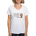 Gandhi 3 Women's V-Neck T-Shirt