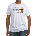 Gandhi 3 Fitted T-Shirt
